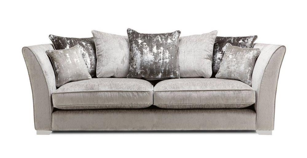 Aria Large Sofa Dfs Silver