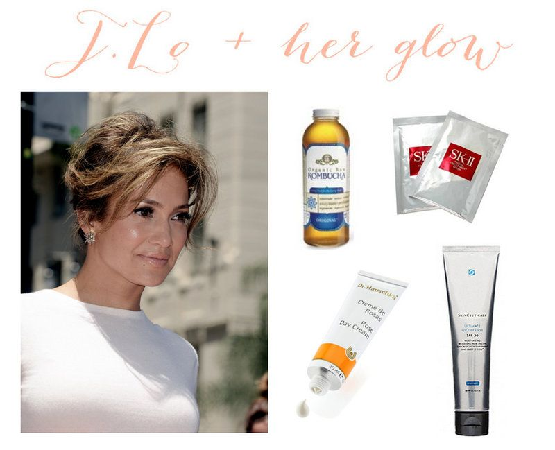 Jennifer Lopez And Her Glowing Skin The Dumbbelle Beauty Routines Beauty Tips For Hair Celebrity Beauty Secrets
