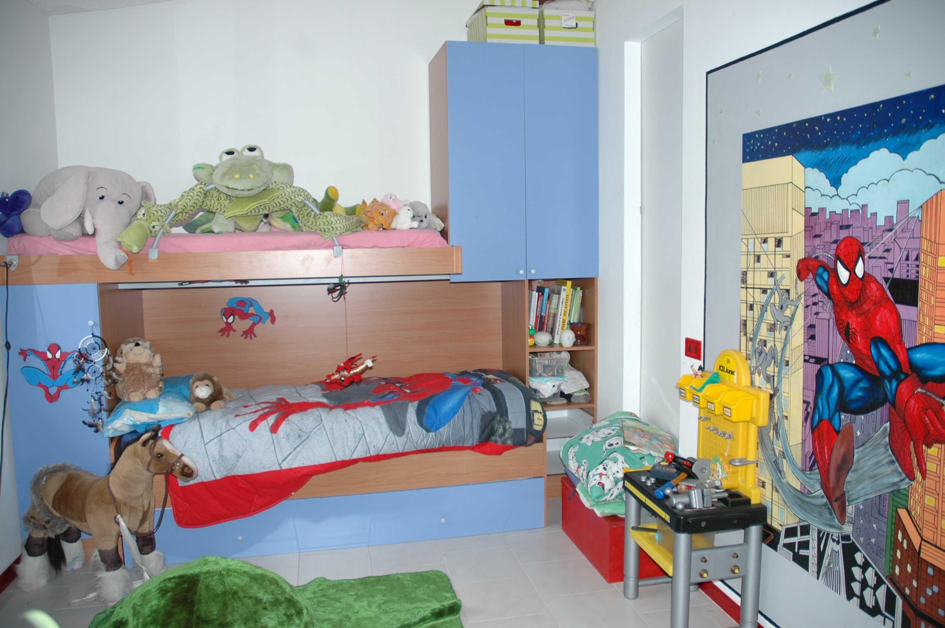 Cameretta spiderman ~ Cameretta dipinta con murales uomo ragno pareti dipinte paint