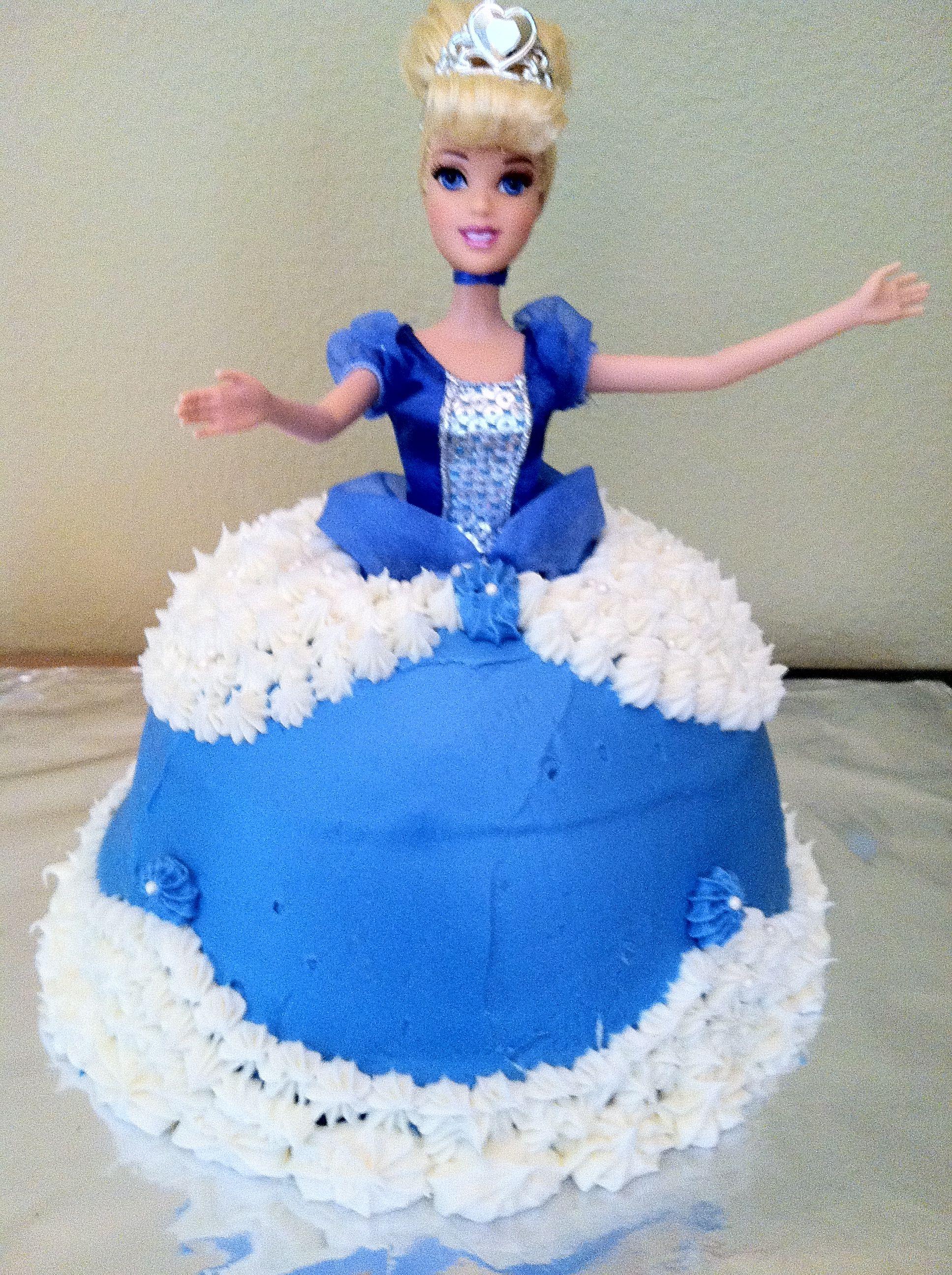 Cinderella Birthday Cake For Julias 3rd Birthday Party Ideas