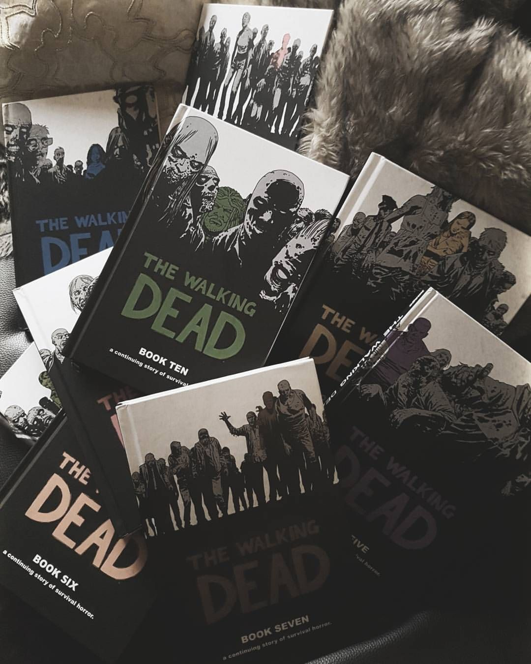 People getting angry about spoilers. The show is based on these books (graphic novels) y'all. 😂 The books are far ahead of the tv show. #thewalkingdead #twd #comics #graphicnovel #graphicnovels #thewalkingdeadcomics #twdcomic #amcthewalkingdead #robertkirkman #thewalkingdeadcomic #nerdlife #twdcomics