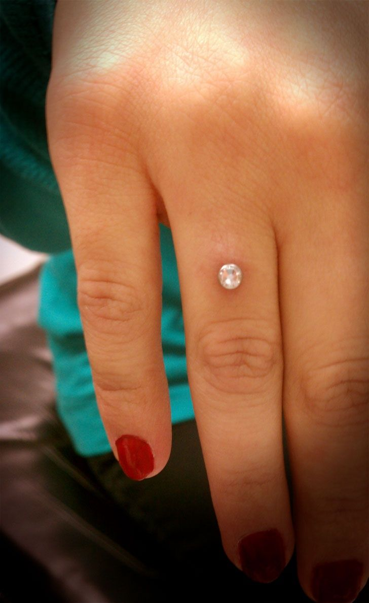 Piercing microdermal sur la main - hand | Piercings ...