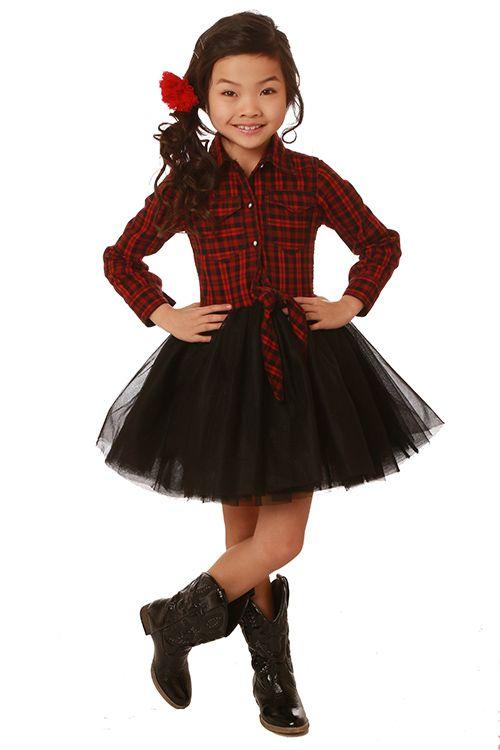 175514b7ec5 Ooh La La Couture Red Plaid Button Up Shirt Dress  PREORDER