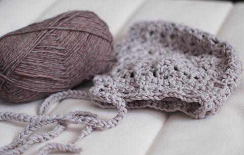 Baby Bonnet- Free Crochet Pattern | Free Crochet Baby Hat Patterns ...