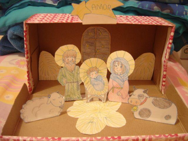 Nativity scene in a shoe box by ~88angel-vivi88 on deviantART | Nativity scene crafts, Nativity scene diy, Diorama kids