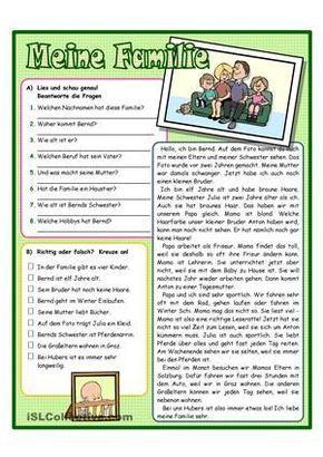 Lesen Arbeitsblatt zum Textverständnis mit 2 Arbeitsaufträgen ...
