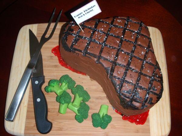 Birthday Cakes Ideas For My Husband ~ Steak cake for my man s birthday foodies steak