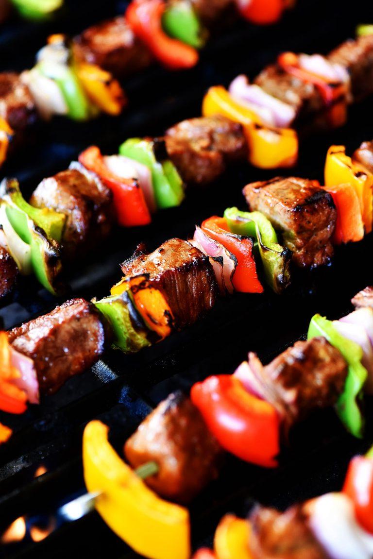 Grilled Steak Kebabs #grilledsteakmarinades