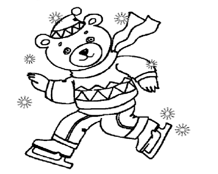 Winter Coloring Pages Of Teddy Bear