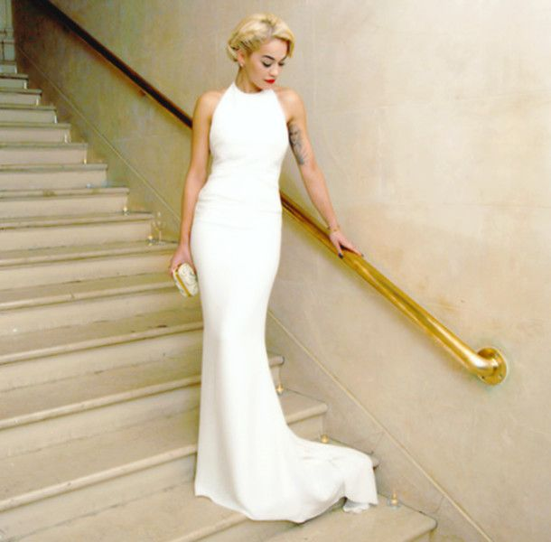 Cheap Long White Dress