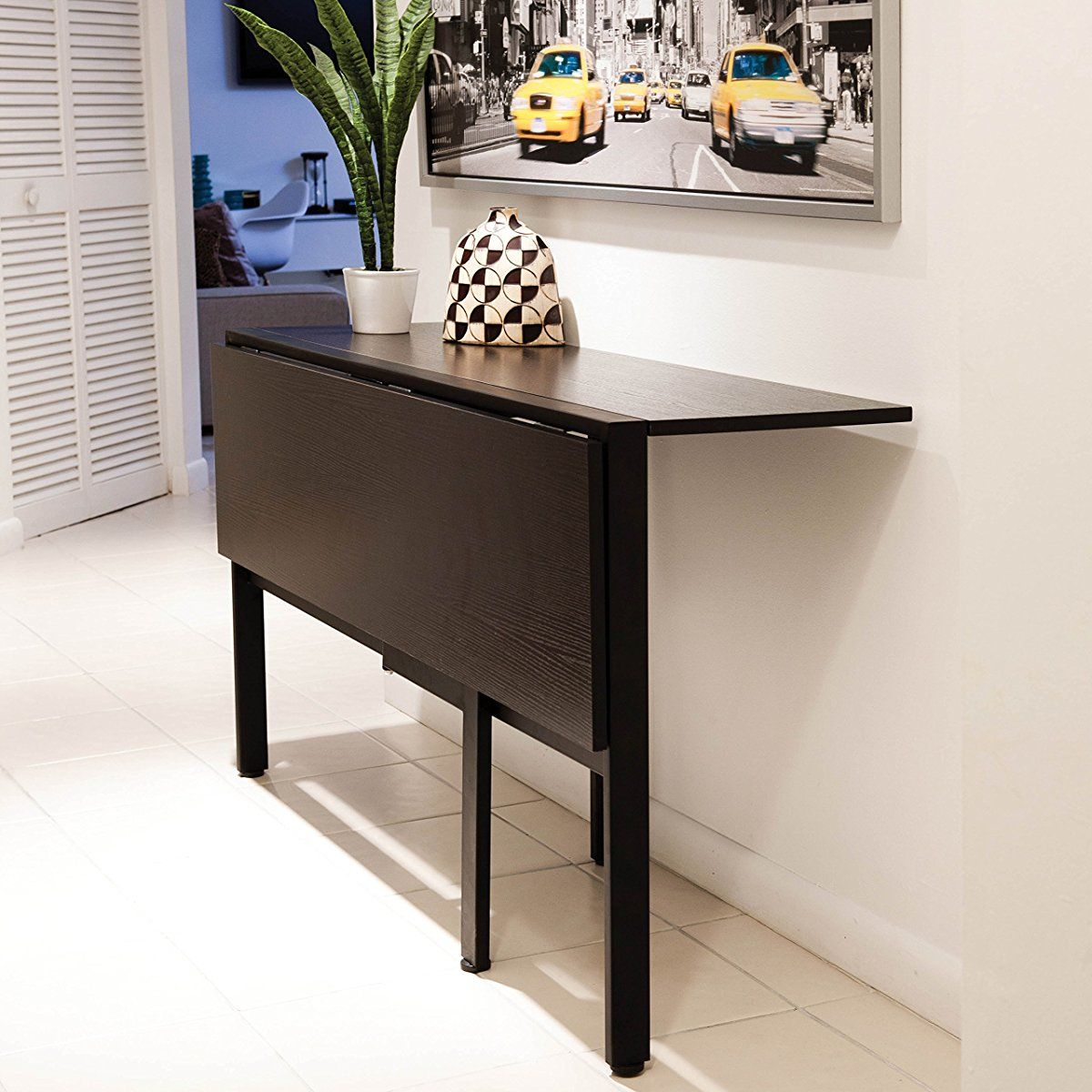 Tokyo Espresso Rectangle Folding Dining Table Rectangle Dining