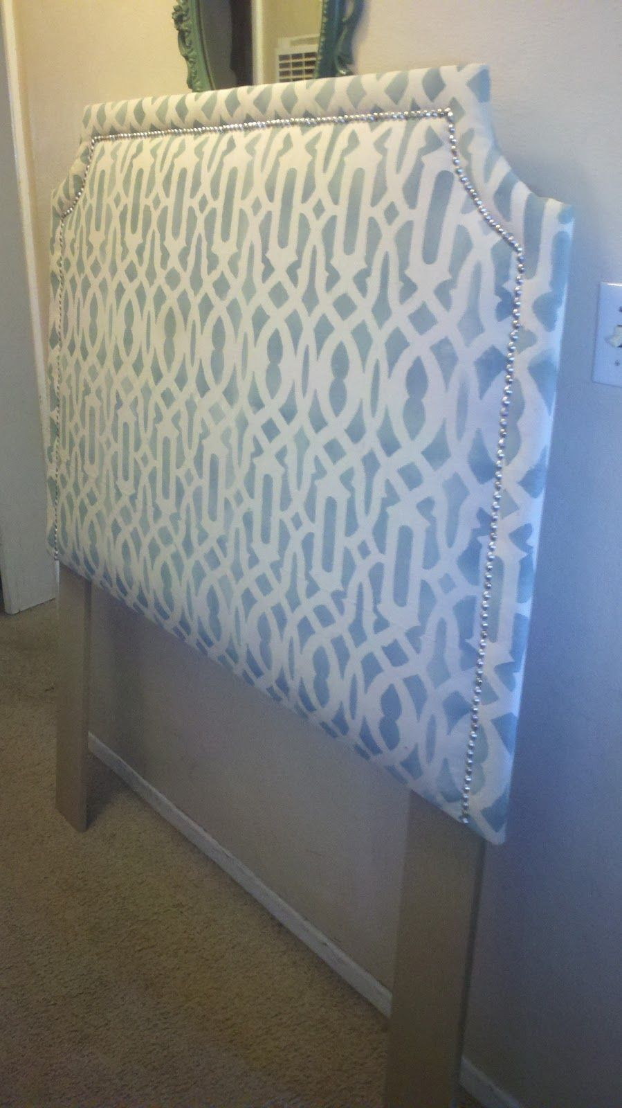 and diy piece fabric buttons the tufted faux styrofoam made headboards cheap apple pin tree headboard insulation with board a of by over