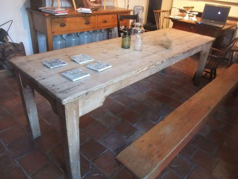 Scrub Top Pine Farmhouse Table Dining Farmhouse Tables