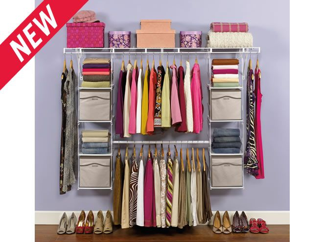 Rubbermaid Closet Helper Max Add On   The Side Shelves Would Be Great For  Purses