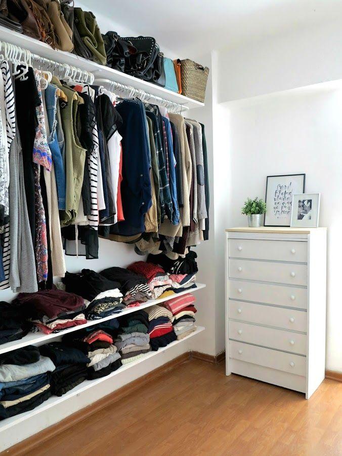 diy vestidor low cost inspiraci n pinterest kleiderschrank schrank und offener. Black Bedroom Furniture Sets. Home Design Ideas