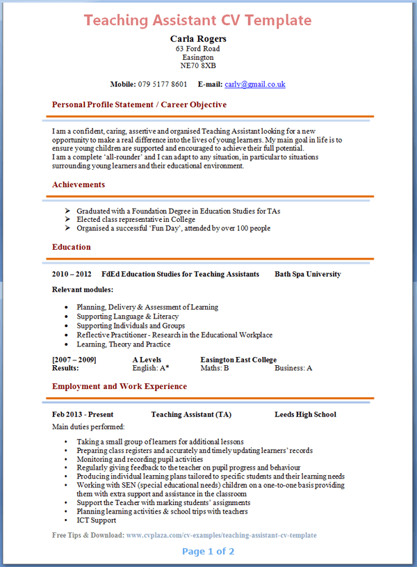 Pin By Teachers Reasumes On Teachers Resumes Teaching Resume Cv