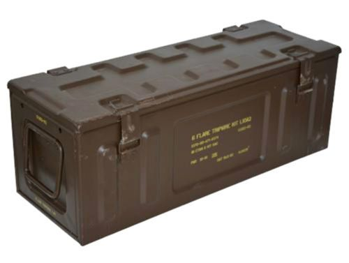 British Army Large Metal Ammo Box Used Military Surplus  4297b6e27d2