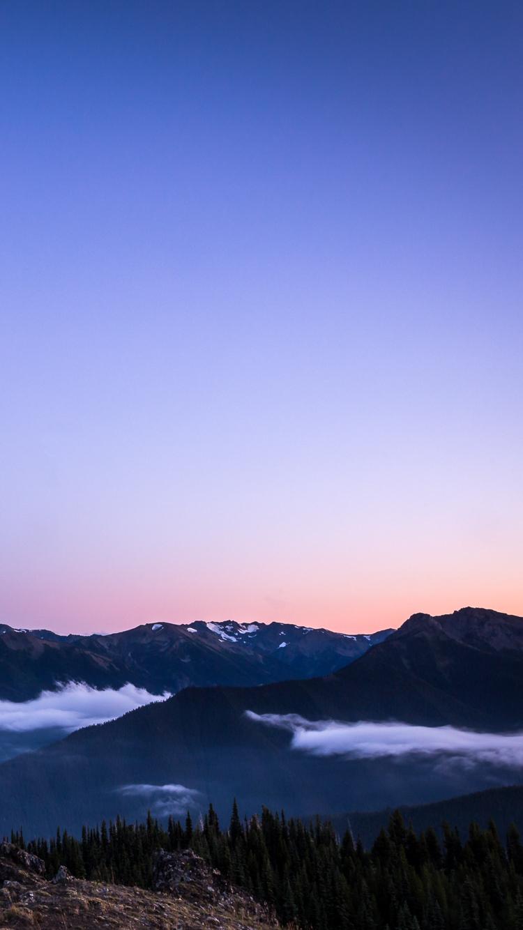Purple Mountain Sunset Iphone Wallpaper Iphone Wallpaper