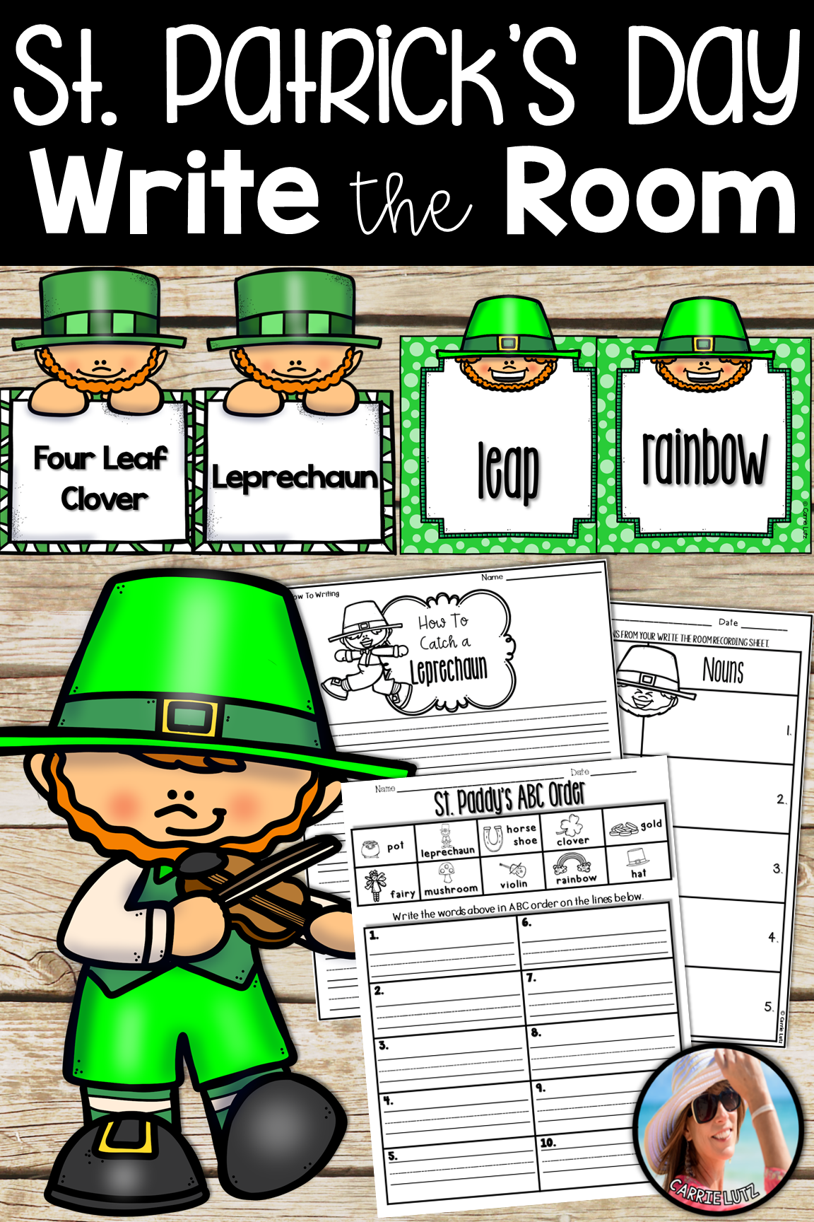 Write The Room St Patrick S Day Worksheets