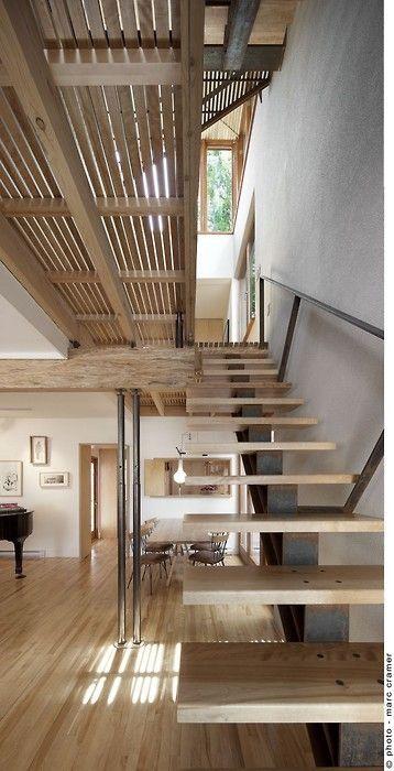 Diseño #Madera #Escalera #Arquitectura + #Construcción +