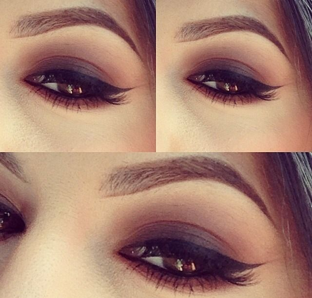 Kiss Out Of Makeup: Darker Brown Lid W Blended Out Lighter Brown