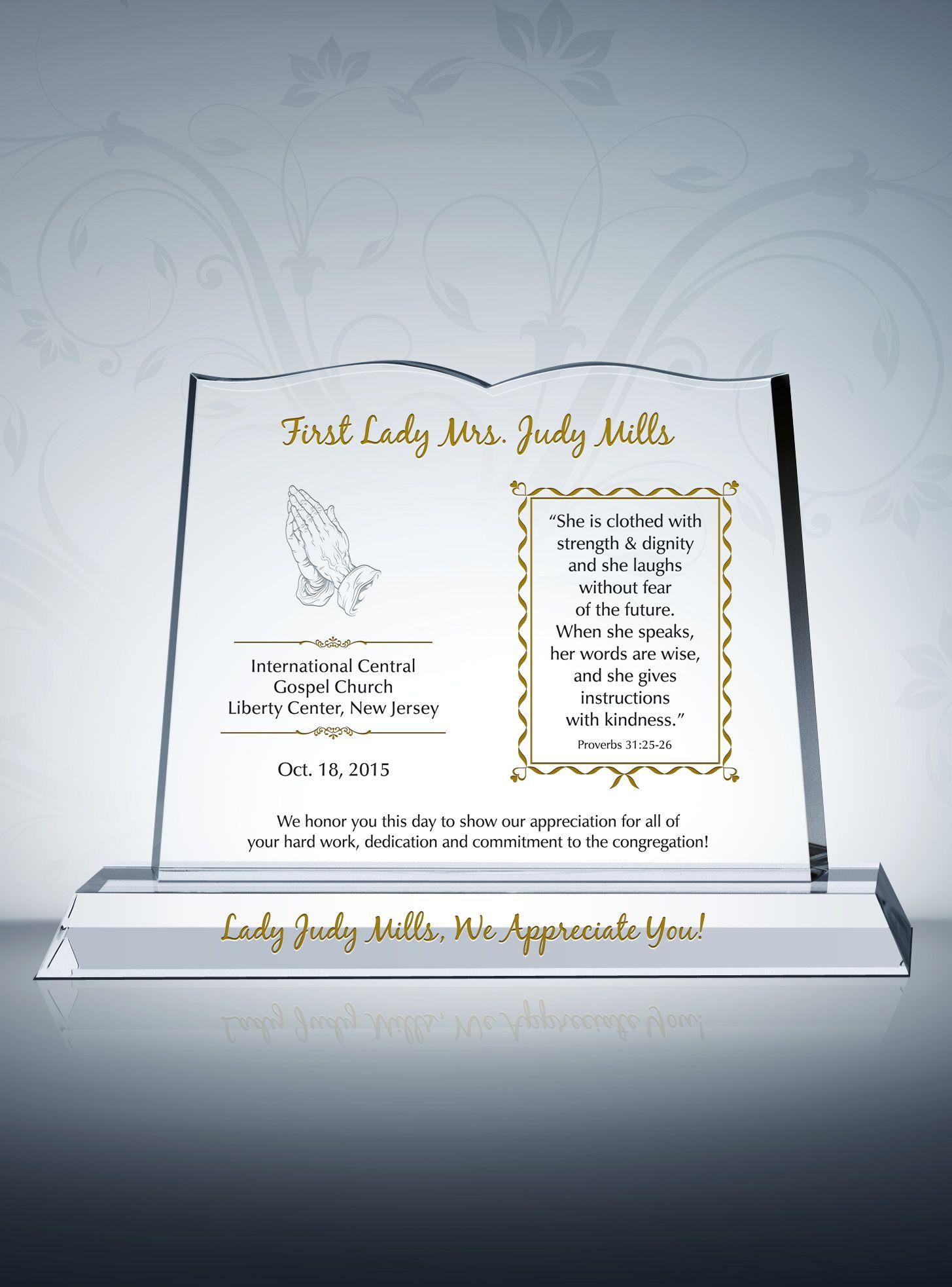 words for plaque of appreciation