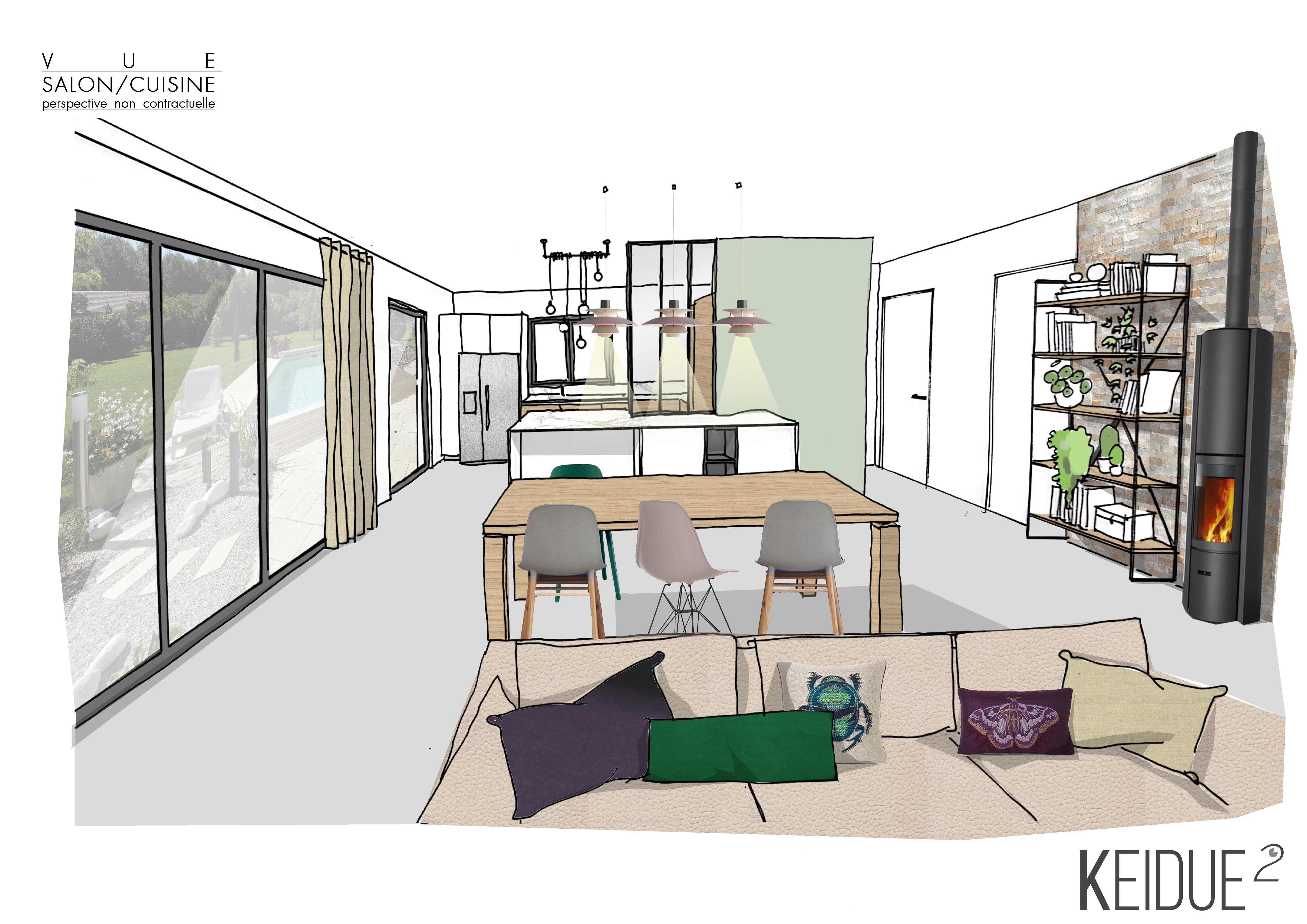 Idee Renovation Salon comment harmoniser un espace cuisine ouverte ? | home, decor