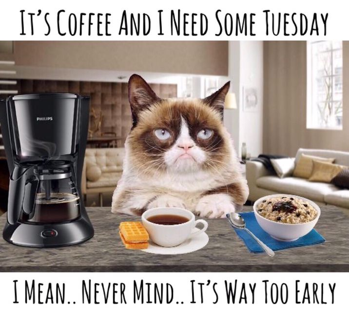 It's Coffee And I Need Some Tuesday. I Mean.. Never Mind ...