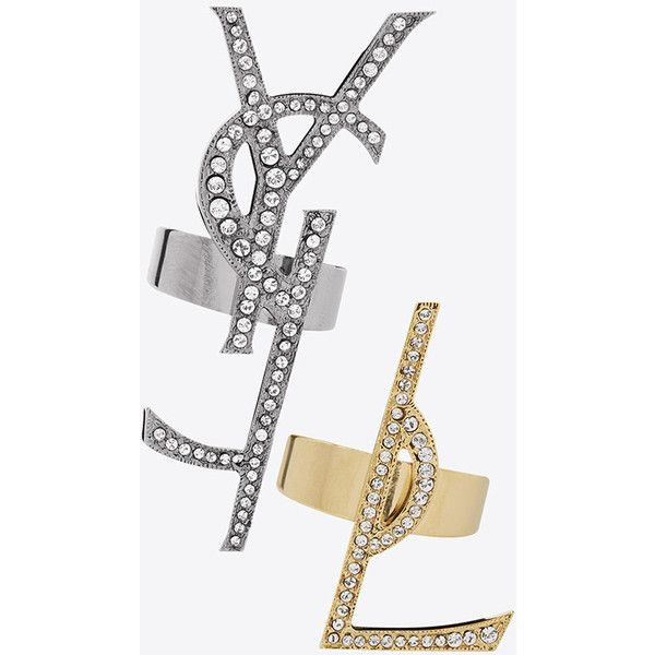 Saint Laurent TWO TONE MONOGRAM RING