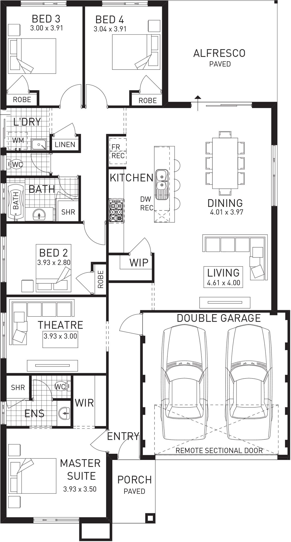 Grandeur Single Storey Floor Plan Wa Family House Plans House Plans New House Plans
