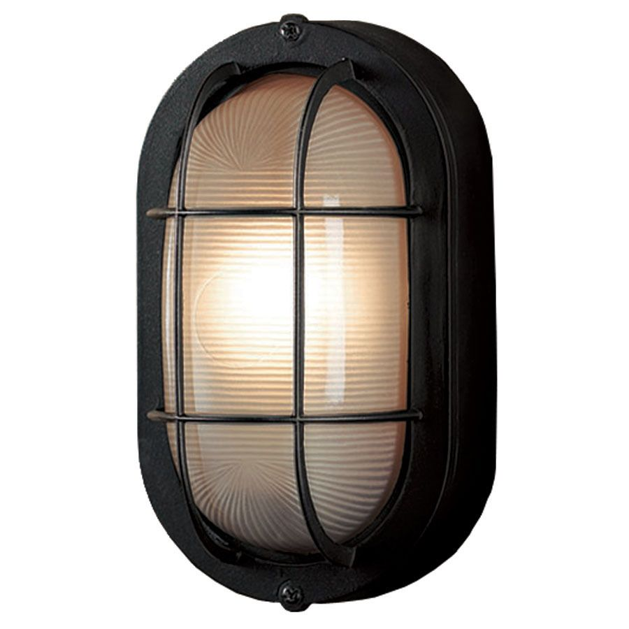 Portfolio 4 13 In W Sand Black Outdoor Flush Mount Light