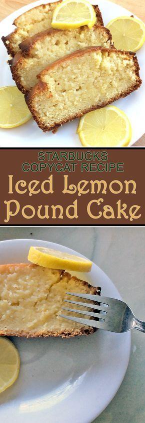 Sweet and sour lemon pound cake. Just like Starbucks!