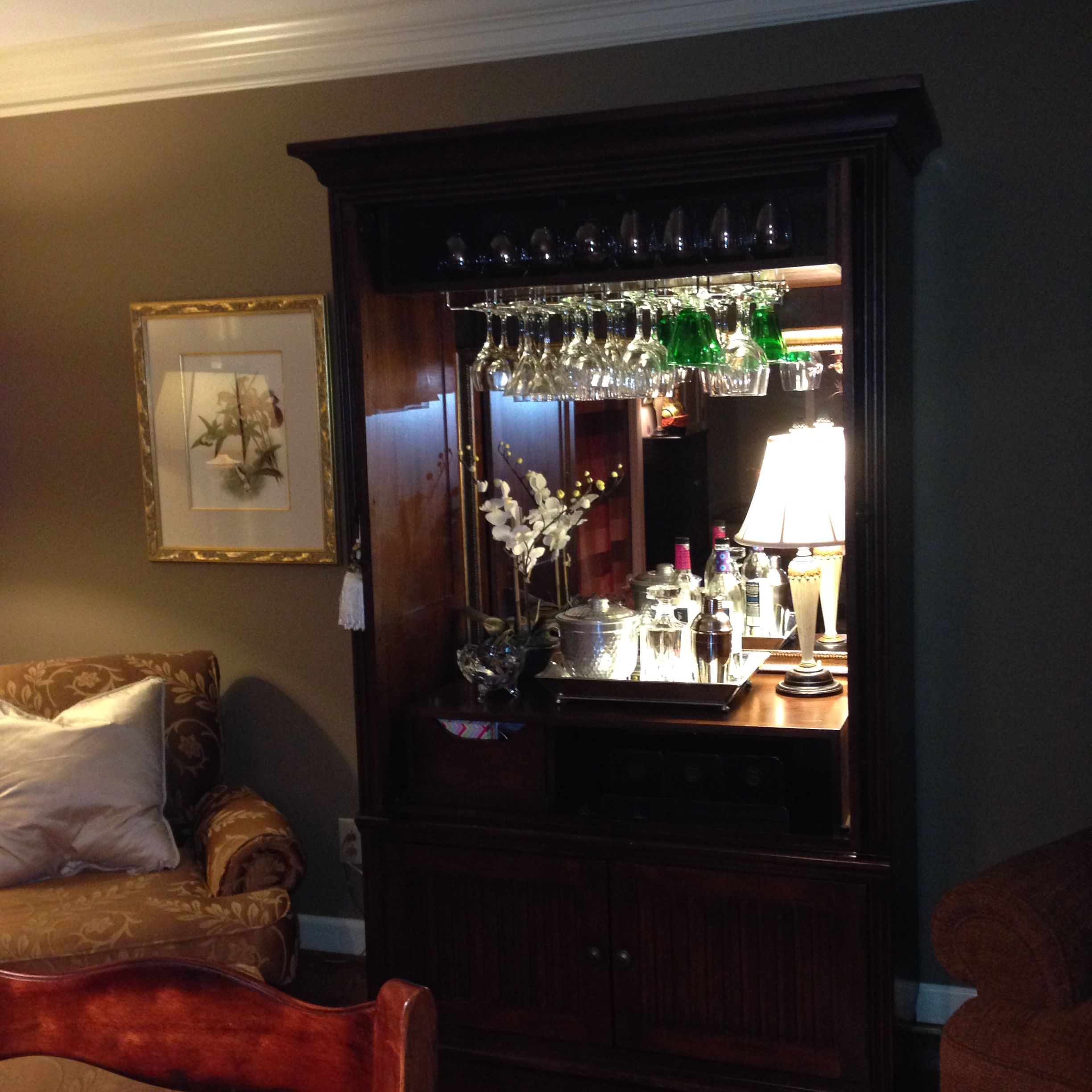 What to do with that old TV cabinet | Bar | Pinterest