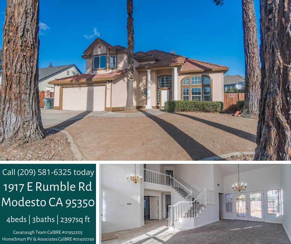 Looking For A Beautiful Move In Ready Home In Modesto It Has 4 Bedrooms And 3 Full Baths A New Paint Job And New Tile And Floori House Styles Home Full Bath