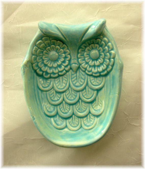 Owl Soap Dish Home Decor or Sponge Dish. $15.00, via Etsy. | Whoooty ...