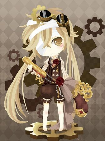Steam Princess Anime Chibi