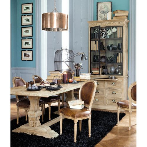 Mesa de comedor de madera efecto envejecido An 220 cm Madera