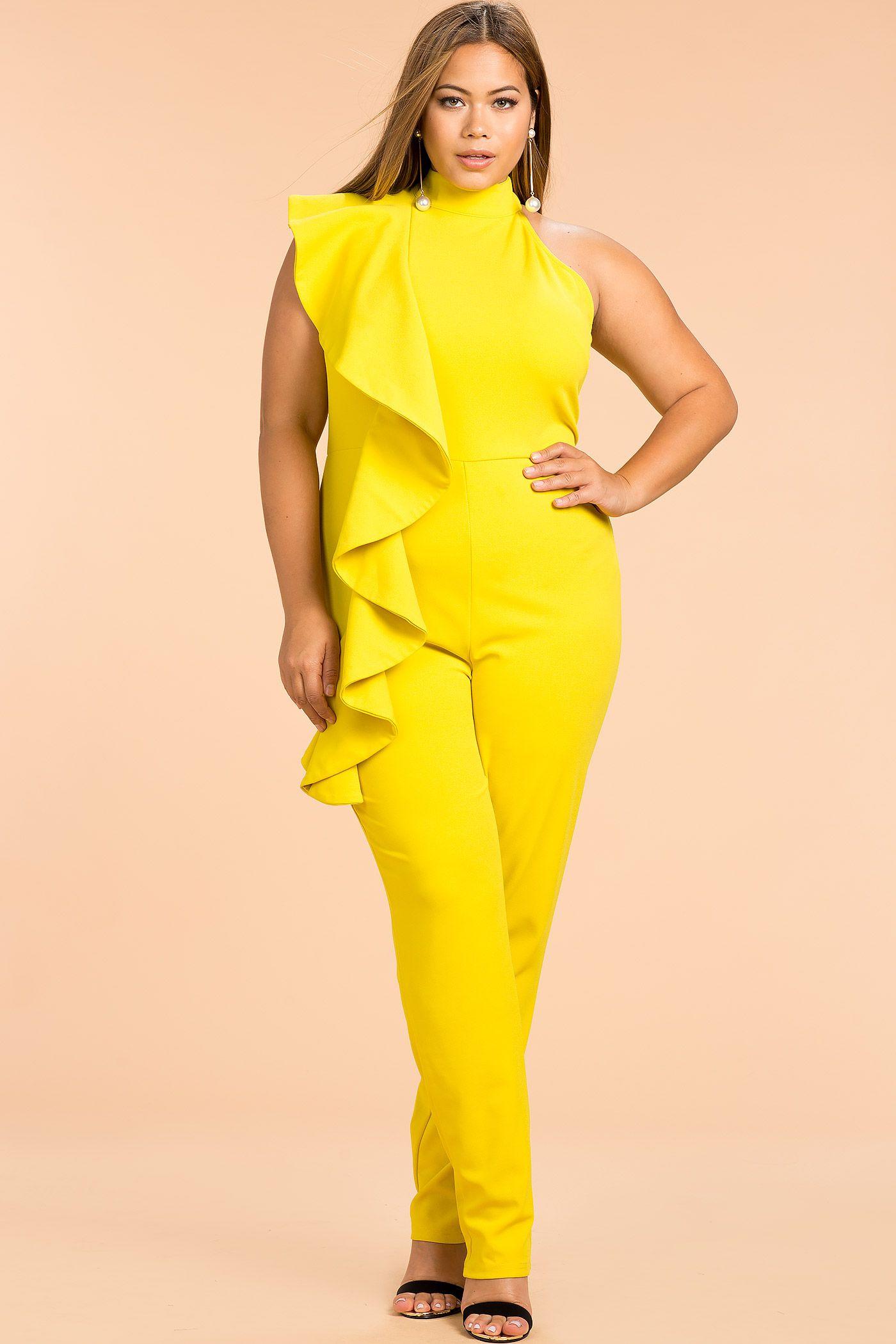 0cb85010910a Fashion to Figure Gabrielle V-Neck Studded Jumpsuit