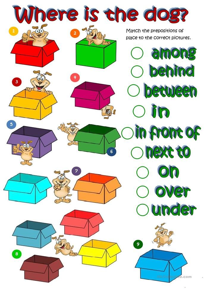 Where S The Dog Prepositions Of Place Worksheet Free Esl Printable Worksheets Made By Teachers Prepositions Teaching English English Lessons