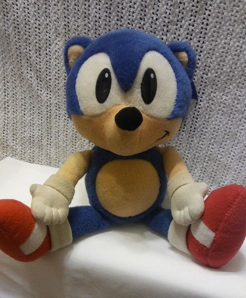 Sonic The Hedgehog Plush By Caltoy 1993 14 Vintage 90s Toy Felt