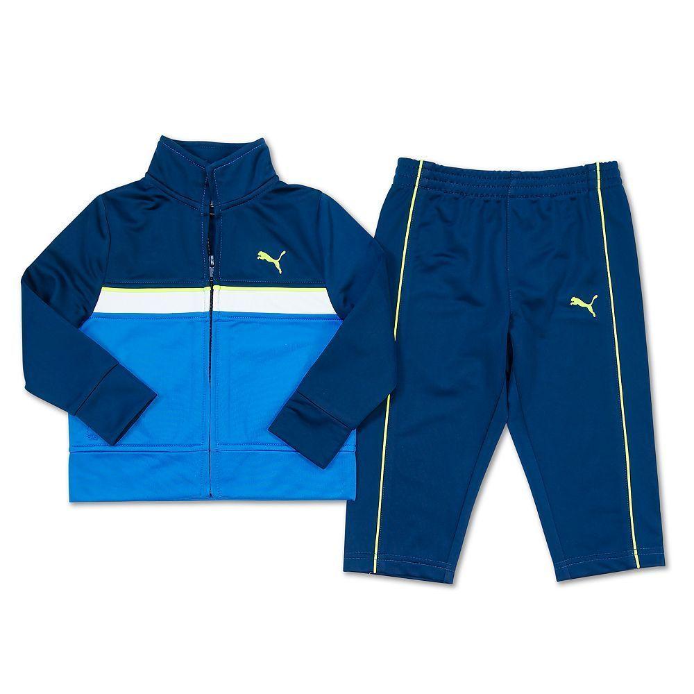 3071ecaa9a30 Boys 4-7 PUMA Tricot Colorblock Jacket   Pants Set