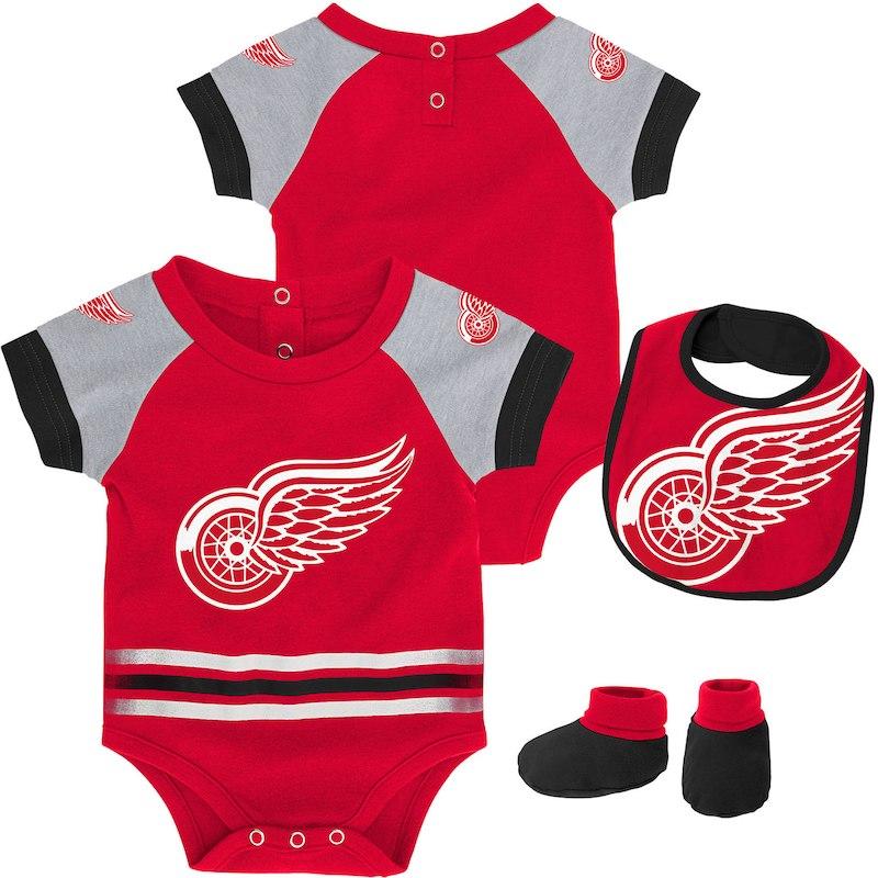 Baby bodysuit Newest fan Detroit Red Wings hockey One Piece jersey personalized