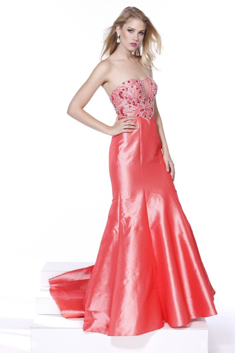 Strapless Prom Dress NX8244. Floor Length Trumpet Shape Prom Gown ...