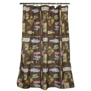 Cabin Themed Shower Curtain Hooks
