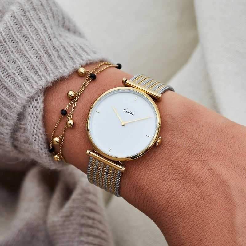 Cluse Triomphe Gold Silver Mesh Watch in 2019  d50b1bfdc75