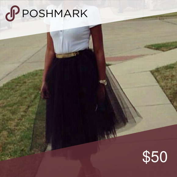 Tulle Skirt Worn once for a wedding Skirts Midi