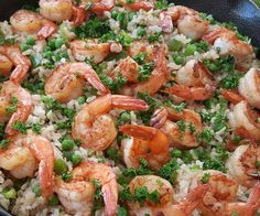 Sauteed shrimp with brown rice and baby peas IGNITE - day 3,5,7 because of the rice. Day 1,2,4,6,8 - with no rice.