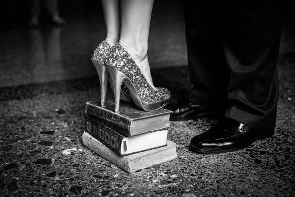 Cool way to get the shoes and be romantic/literary