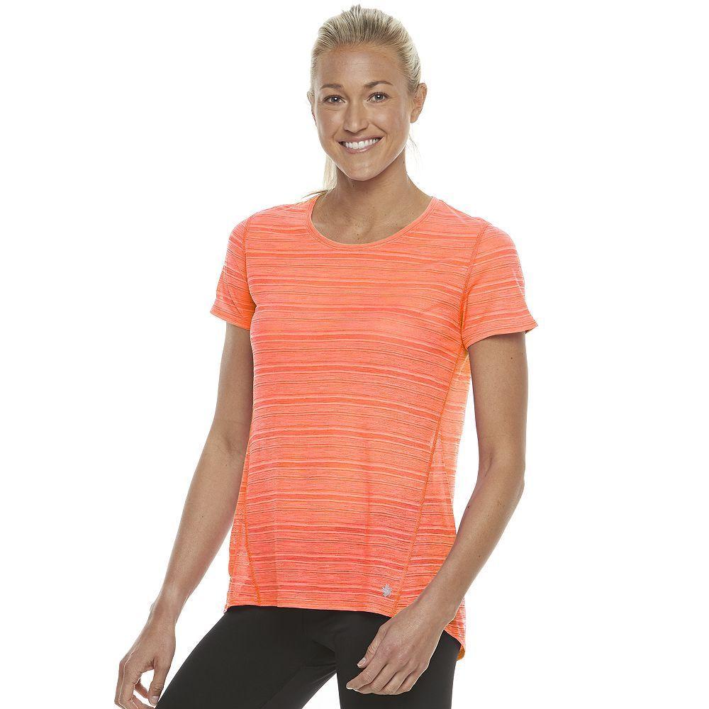 Women's Tek Gear® Base Layer Short Sleeve Tee, Size: Medium, Brt Orange