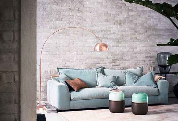 Design Woonkamer Lampen : Koper lamp woonkamerlamp stalamp verlichting design